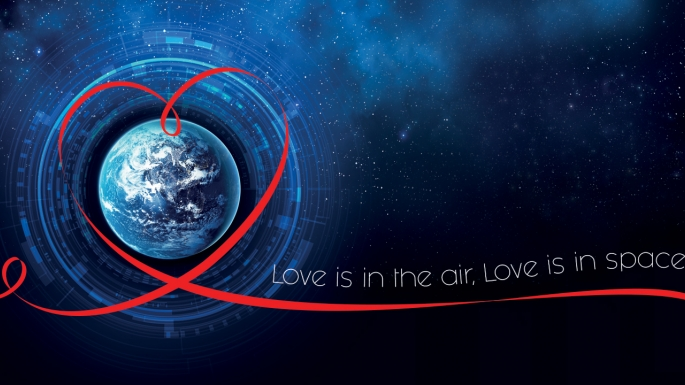 Love is in the air, love is in space