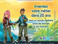 """Affiche du jeu concours """"L'avenir s'imagine !"""""""
