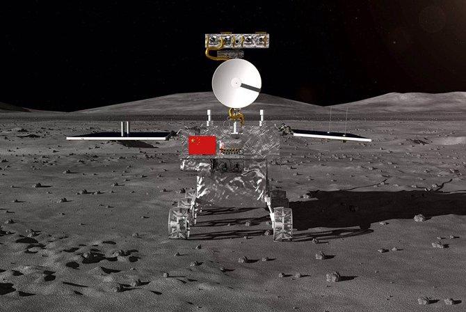 Le rover chinois de la mission lunaire Chang'e 4 © CNSA