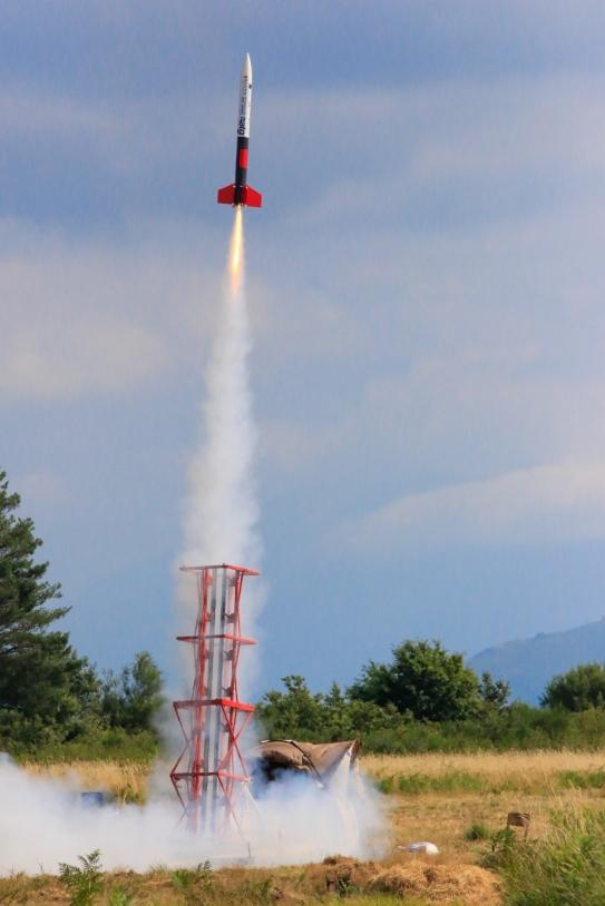 Lancement d'une fusée expérimentale