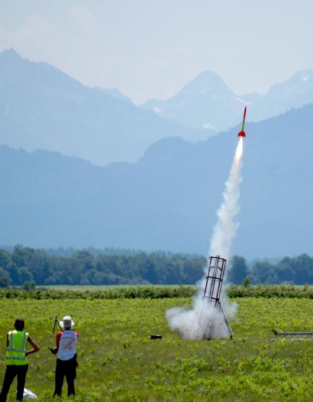 Lancement mini-fusée c'space 2017