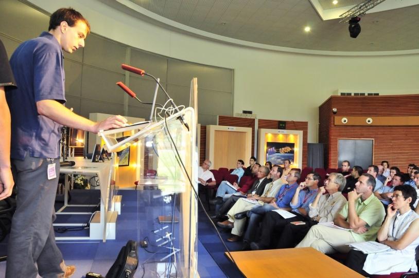 Présentation au CNES du projet par les élèves © CNES/H. Piraud