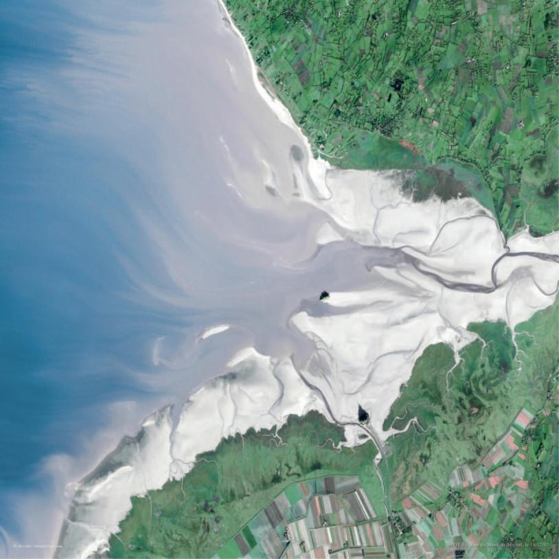 Le Mont Saint-Michel vu par le satellite SPOT 5 © Spot Image