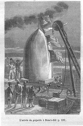 """Dans """"De la Terre à la Lune"""", Jules Verne a imaginé un un énorme projectile qui serait lancé vers la Lune par un gigantesque canon !"""