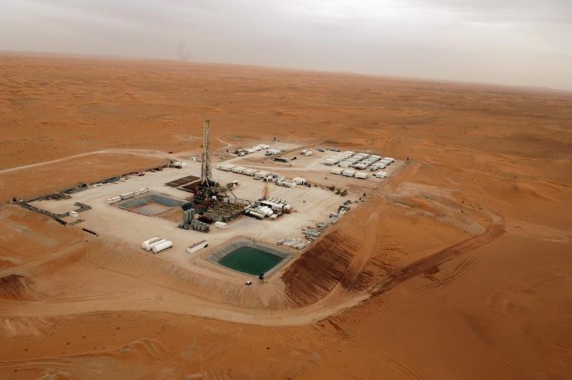 Complexe pétrolier Hassi Mouinas, dans le désert algérien © Øyvind Hagen / Statoil