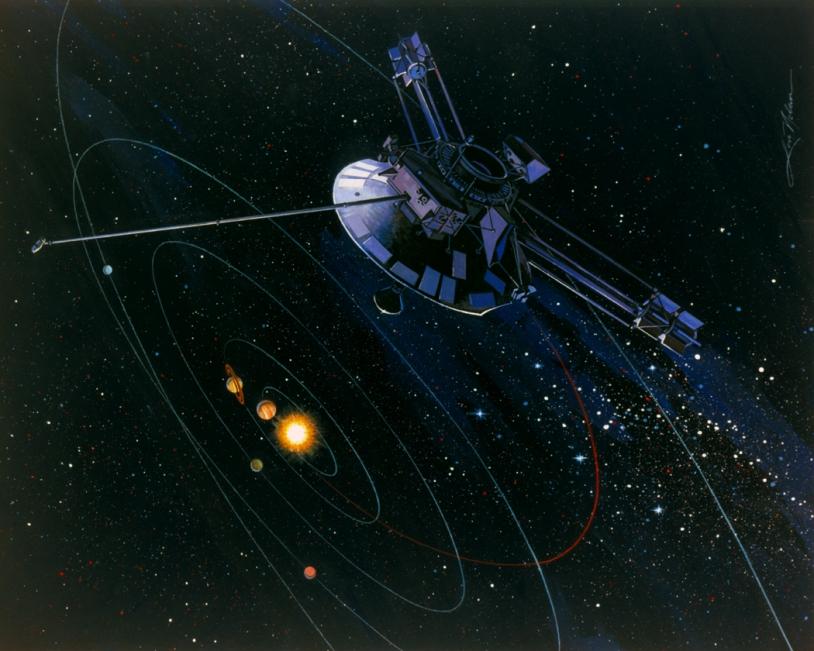 Vue d'artiste de la sonde Pioneer 10 © NASA