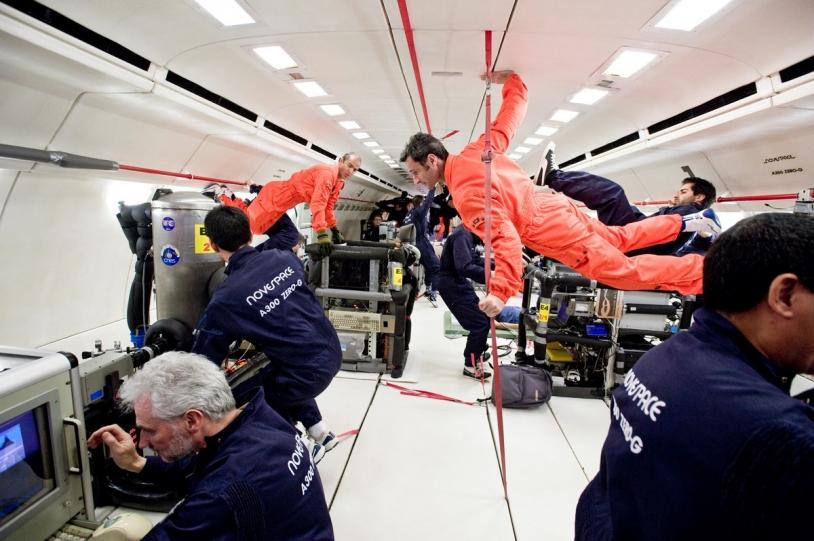 Le concept de PHARAO a été testé lors de vols paraboliques qui permettent de reconstituer l'environnement de micropesanteur qui règne sur l'ISS © CNES/M. Pedoussaut