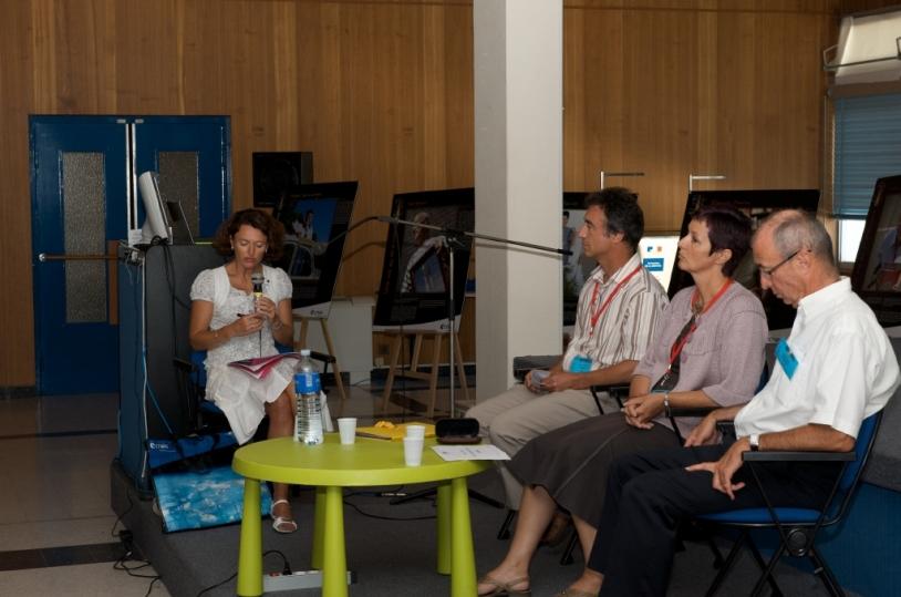Table-ronde avec des représentants de l'industrie spatiale © CNES/S. Girard