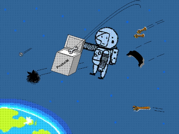 Elimination des débris spatiaux © CNES