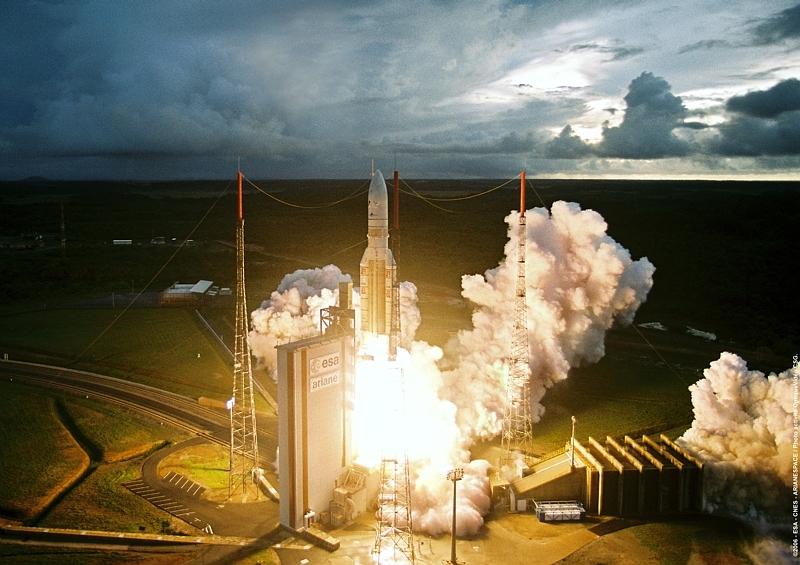 Décollage Ariane 5 ECA vol 171 © CNES/ESA/ARIANESPACE/CSG Service Optique