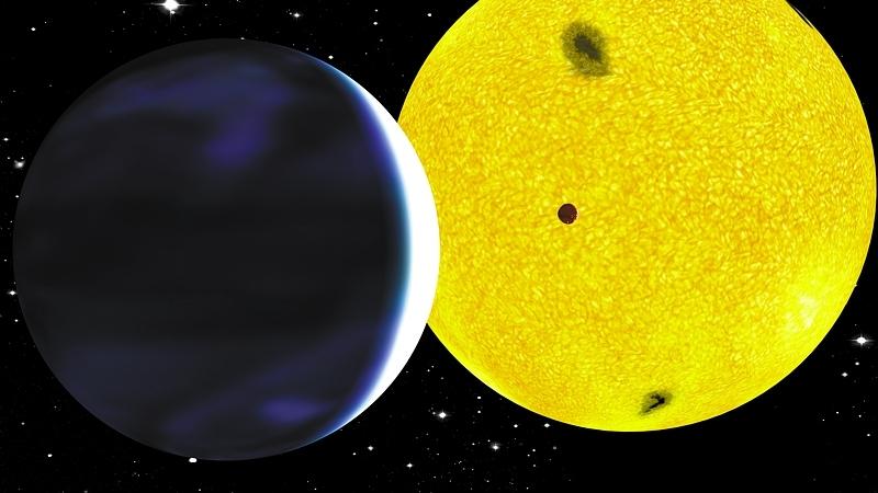Illustration de l'exoplanète CoRot-Exo-7b découverte par Corot © CNES/P. Prodhomme