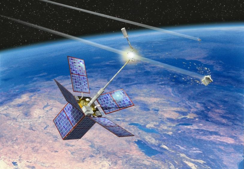 En juillet 1996, le satellite Cerise a été endommagé lors d'une collision avec un débris provenant de l'explosion, dix ans plus tôt, d'un étage d'Ariane © David Ducros/ CNES
