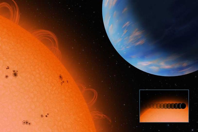 Vue d'artiste de l'exoplanète Gliese 436 © Crédit : Lynett Coook/CCPS