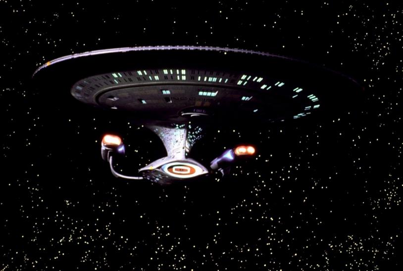 Le vaisseau Entreprise de la série américaine Star Trek, crée par Gene Roddenberry en 1966 © Rue des Archives/BCA
